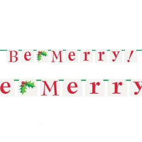 Be Merry Block Banner 1.5m