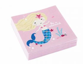 Be a Mermaid Beverage Napkins, pk20