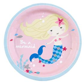 Be a Mermaid Paper Plates 18cm, pk8