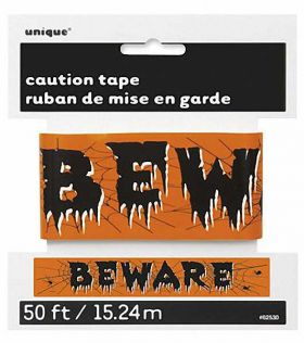 Halloween Caution Tape, says Beware!