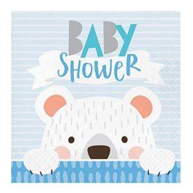 Birthday Bear Baby Shower Napkins 33cm x 33cm, pk16