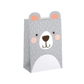 Birthday Bear Paper Treat Bags, pk8