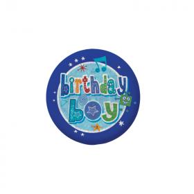 Birthday Boy Holographic Badge