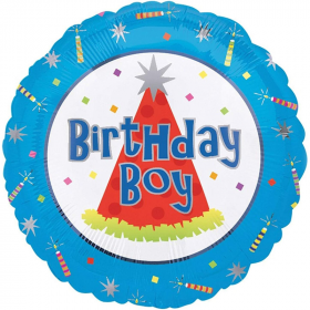 Birthday Boy Foil Balloon 18""