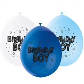 "Happy Birthday Boy Latex Balloons 9"""