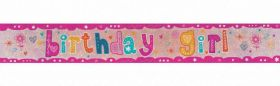 Birthday Girl Holographic Foil Party Banner
