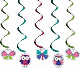 Owl Pal 5 Piece Dizzy Danglers Party Decoration