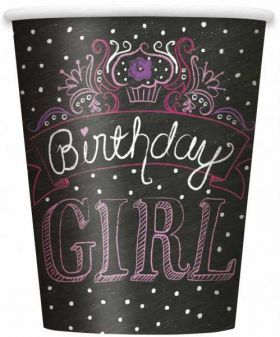 Sweet Birthday Girl 9oz Paper Cups, 8 pk