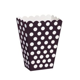 Black Polka Dot Party Treat Boxes