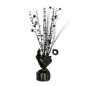 Black Spray Centrepiece Balloon Weight 30cm