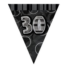 Black 30th Birthday Party Decorations