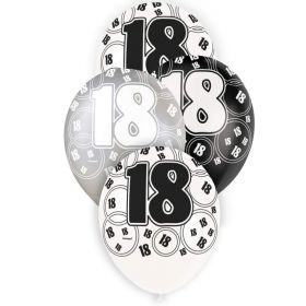 Black Age 18 Latex Balloons