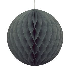 Black Honeycomb Ball Party Decoration 20cm