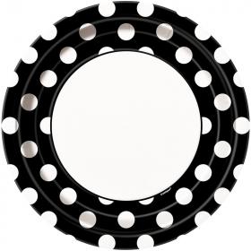 Black Polka Dot Dinner Plates