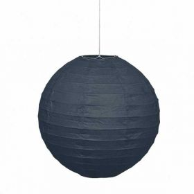 Round Lantern Black Party Decoration 10""