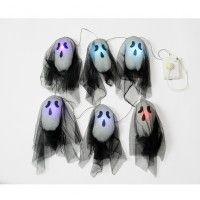 Halloween Black Ghost Lights 120cm