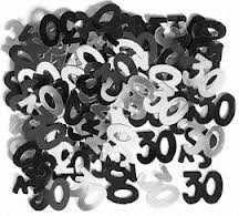 Black Glitz 30 Party Confetti