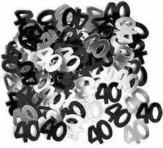 Black Glitz 40 Party Confetti