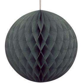 Honeycomb Black Ball Party Decoration 8""