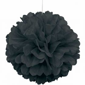 Black Paper Puff Ball Hanging Party Decoration