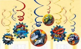 Blaze and the Monster Machines Hanging Swirls pk12