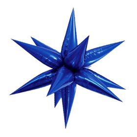 Large Blue Glitz 3D Star Foil Balloon
