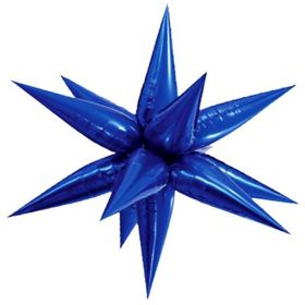 Giant Blue Glitz 3D Star Foil Balloon 40""
