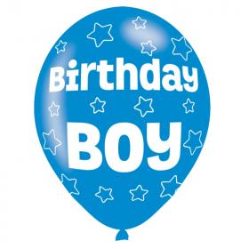 "Blue Birthday Boy Latex Balloons 11"""