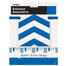 Royal Blue Chevron Card Pennant Banner