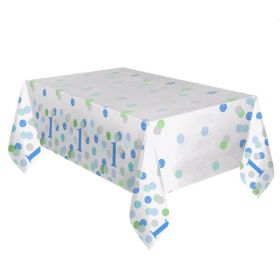 Blue 1st Birthday Tablecover