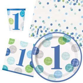 Blue 1st Birthday Party Packs