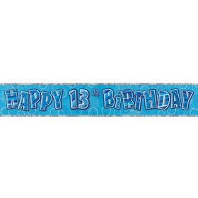 Blue Age 13 Party Banners