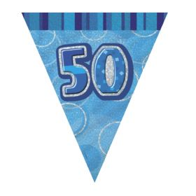 Blue 50th Birthday Party Decorations