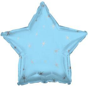 Blue Sparkle Star Foil Balloon