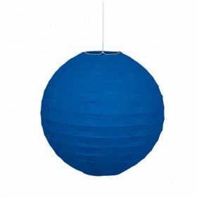 "Round Lantern Royal Blue Party Decoration 10"""
