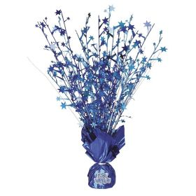 Blue Glitz Birthday Party Centerpiece Balloon Weight