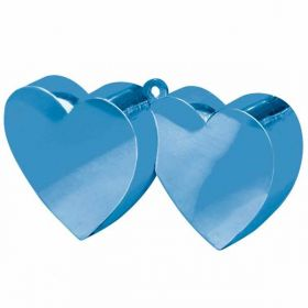 Blue Double Heart Balloon Weight