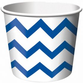 Royal Blue Chevron Stripe Treat Tubs pack of 6