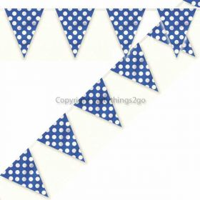 Royal Blue Polka Dot Party Flag Banner