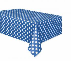 Royal Blue Polka Dot Party Tablecover