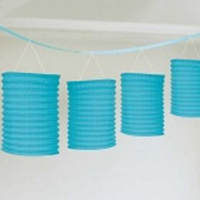 Blue Lantern Garland, 12ft