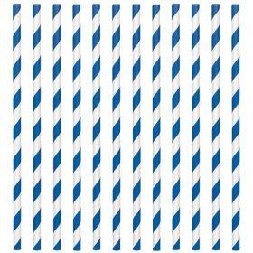 Bright Royal Blue Paper Straws, pk24