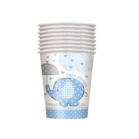 Blue Baby Shower Cups