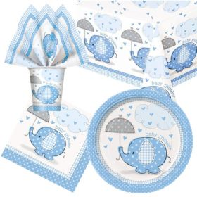 Blue Baby Shower Tableware