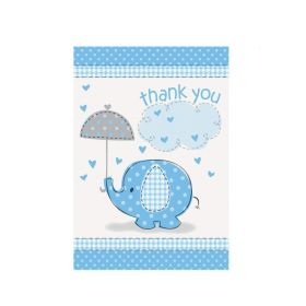 Blue Baby Shower Thank's You Cards