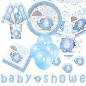 Blue Baby Shower Party Supplies