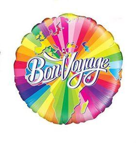 """Bon Voyage 18"""" Foil Balloon"""