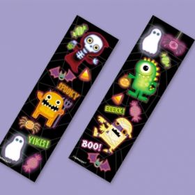 Boo Crew Monsters Halloween Sticker Strips 8pk