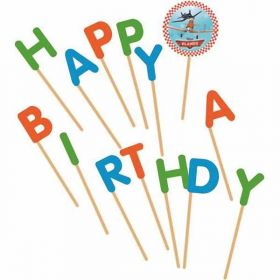 "Disney Planes ""Happy Birthday"" Toothpick Candles"