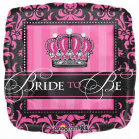 Crowned Bride To Be Foil Balloon 18""